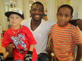 Jaguar Kevin Rutland spends time with two of his youngest fans
