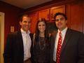 Ryan Schwartz, Eden Clark & Stewart Whitmore at the Discovery Circle Holiday Party