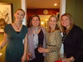 Jessica Sloan, Lea Kilpatrick, Lisa Thoele & Megan Denk at the Discovery Circle Holiday Party