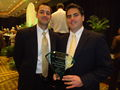 Javan Grant & Stewart Whitmore with the AFP Young Professionals Award